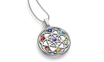 Chakra Pendant Crystal Necklace