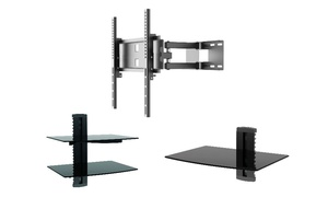 "Play 23""-47"" TV Full-Motion Wall Mount and Single or Double Stand"