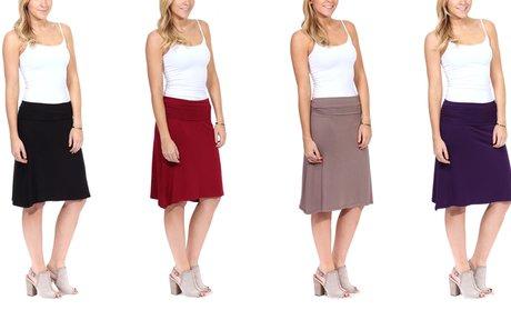 Women's Knee-Length Fold-Over Skirt