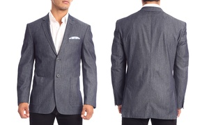 Zenbriele Men's 100% Cotton Blazers in Classic or Slim Fit (Size 34R)
