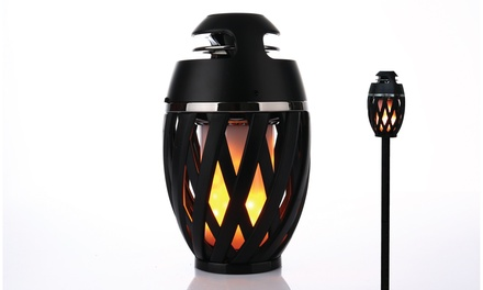 GabbaGoods Bluetooth LED Flame Tiki-Torch Speaker with 5-Foot Pole