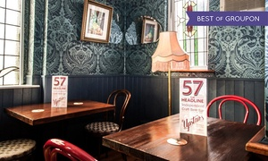 57 The Headline: Up to Six Pints of Beer and Chicken Wings at 57 The Headline (Up to 52% Off)