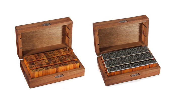 One, Two or Three Sets of 70-Piece Wood Alphabet Stamper from AED 49 (Up to 71% Off)