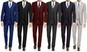 3-Piece Braveman Men's Slim Suits (Big and Tall Sizes)