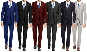 Braveman Men's Slim Suits (3-Piece). Big and Tall Sizes.