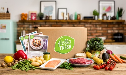 One- or Two-Week Recipe Box Subscription for Up to Five from HelloFresh (Up to 68% Off)