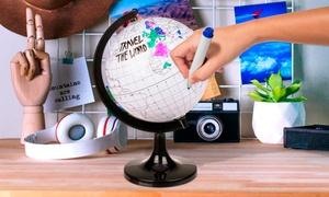 Globe terrestre à colorier pour enfant