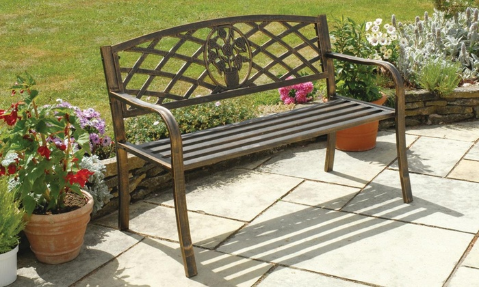 Coalbrookdale Bronze Garden Bench With Free Delivery (£74.99)
