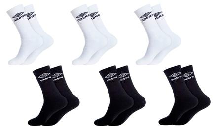 Pack de 6 paire de Chaussettes de la marque Umbro pour Homme