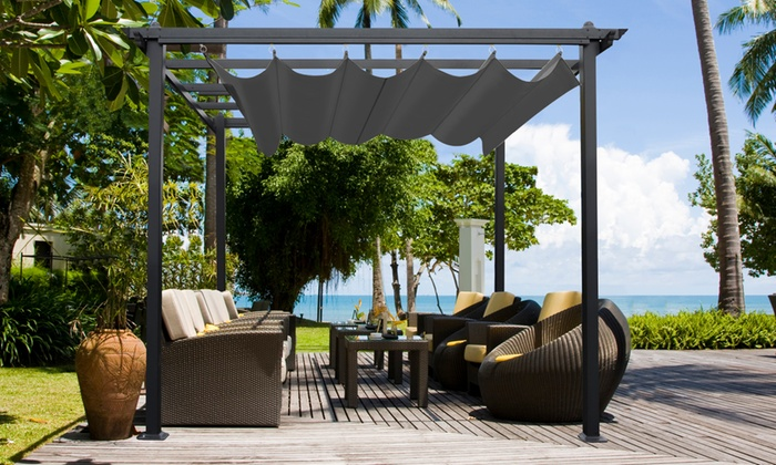 pergolas pour terrasse et jardin groupon. Black Bedroom Furniture Sets. Home Design Ideas