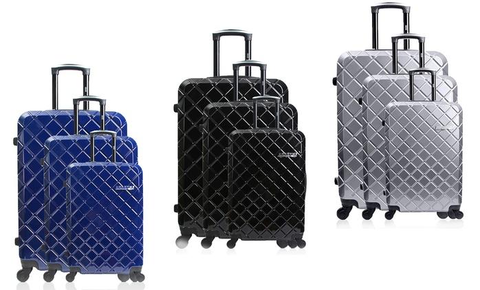 Elegantes Georges Rech Koffer-Set aus 3 Teilen in der Farbe nach Wahl (83% sparen*)