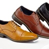 Adolfo Wisley Men's Cap-Toe Lace-Up Dress Shoes