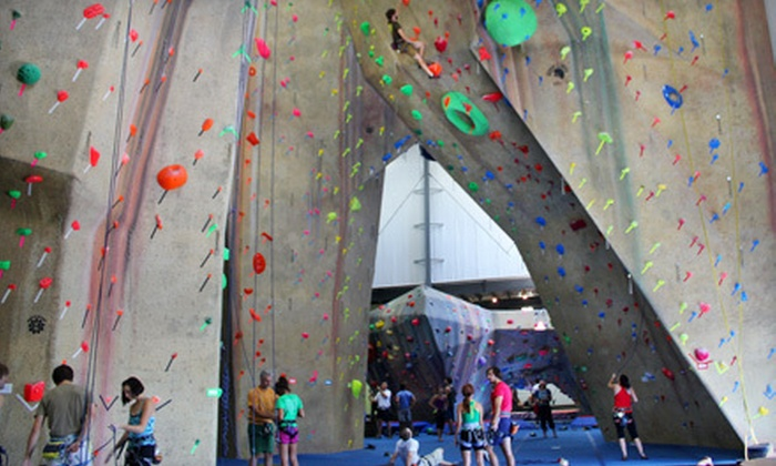 Upper Limits Rock Gym - Multiple Locations: Rock Climbing 101, 102, or Both with Day Pass or a Private Birthday Party at Upper Limits Rock Gym (Up to 57% Off)