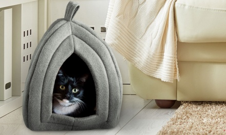 Igloo Pet Bed with Cushion Pad for Cats and Small Pets