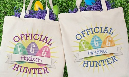 Custom Easter Canvas Tote Bag from Gifts For You Now