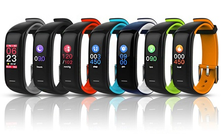 Colour Touchscreen P1 Plus Activity Tracker with Heart Rate and Blood Pressure: One ($39.95) or Two ($78.95)