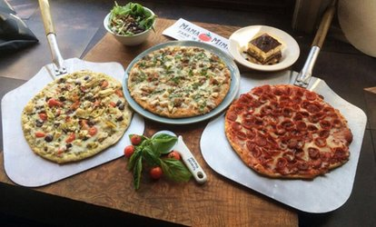 image for Two Large <strong>Pizzas</strong> with Large Salad or Family Pan of  Lasagna with Large Salad at Mama Mimi's (Up to 38% Off)