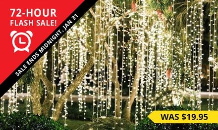 $15 LED Christmas Outdoor Curtain Fairy Lights