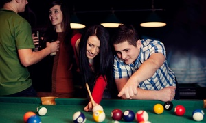 Whiskey Barrel Bar: Pub Food and Pool Games at Whiskey Barrel Bar (50% Off). Two Options Available.