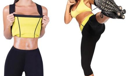 Canotta e pantaloncino fitness modellante in neoprene disponibile in 5 misure