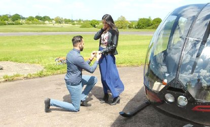 image for Helicopter Experience with Non-Alcoholic Bubbly and Chocolates for Two with Flying Pig Helicopters (35% Off)
