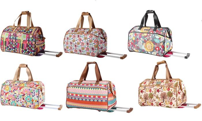 Lily Bloom Wheeled Duffel Bag