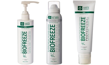 Biofreeze Professional Strength Pain-Relieving Gels and Sprays (4–32 Oz.)