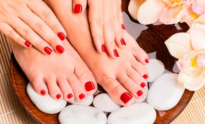 Shellac Manicure, Pedicure or Both at The Beauty Tree (Up to 57% Off)