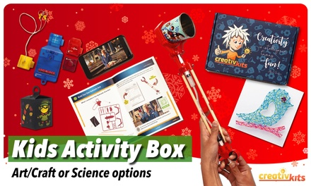 OneMonth Kids Activity Box: Standard $19 or Premium $25 + $9.95 Shipping Fee at CreativKits Up to $59.95 Value
