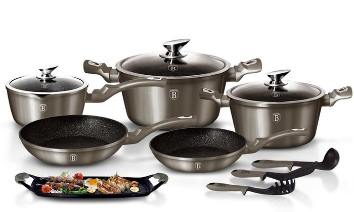 Berlinger Haus Bater/ía de cocina 10 Piezas Carbon Metallic Line