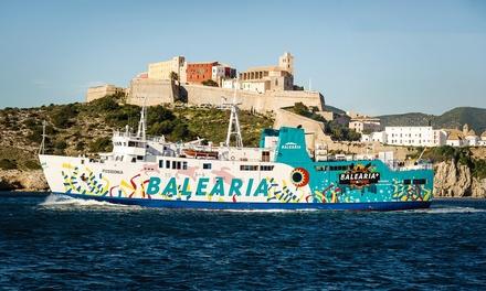 Cupón dto. 40% del billete de ferry Ibiza - Formentera - Ibiza para 1 a 4 personas con moto o coche desde 3,50 €