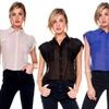 Stanzino Women's Sheer Button-Down Top