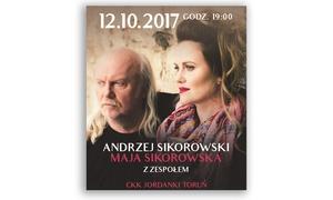 Andrzej Sikorowski i Maja Sikorowska z zespołem: 49,90 zł: bilet na występ Andrzeja Sikorowskiego i Mai Sikorowskiej z zespołem w CKK Jordanki w Toruniu