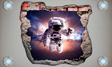 3DEffect Wall Vinyl in Choice of Designs for £23.98 With Free Delivery