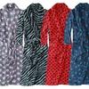 Noble Mount Printed Plush Coral Fleece Robes