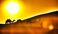 Overnight Desert Safari with Dinner and Breakfast for Up to Four with AddTourism