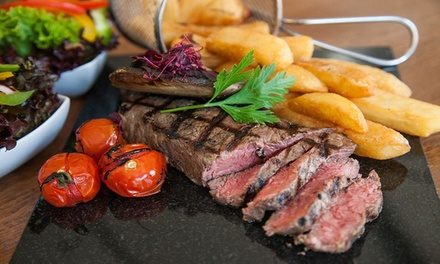 Steak Meal with Beer, Wine or Soft Drink at The Philharmonic