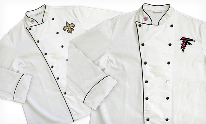 NFL NFC South Classic or Premium Chef Coats: NFL NFC South Classic or Premium Chef Coats (Up to 64% Off). Multiple Teams Available. Free Shipping and Returns.
