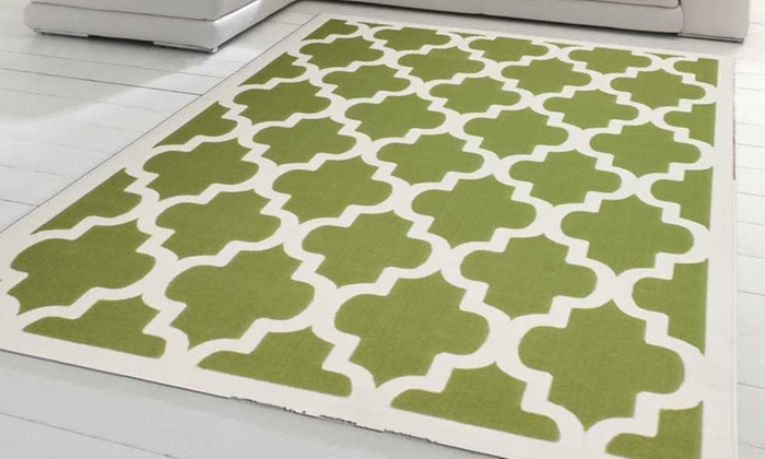 Contemporary patterned rugs groupon goods for Decoration quadrilobe