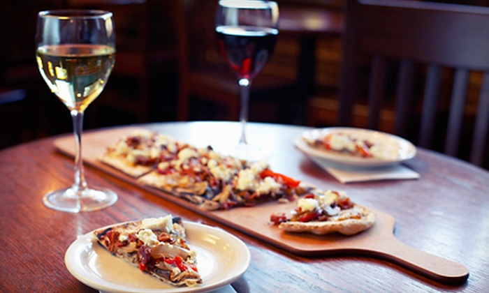 The Bean Coffee & Wine Cafe - Andover: Beer or Wine with Flatbread Appetizers for Two or Four at The Bean Coffee & Wine Cafe (Up to 52% Off)