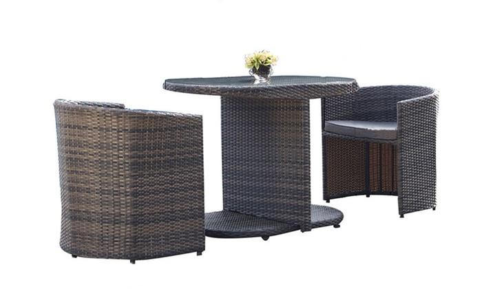 Set di 2 sedie e tavolo da giardino groupon for Groupon giardino