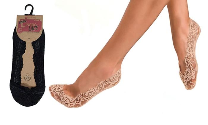 a2488641001ba Jusqu'à 75% Socquettes invisibles en dentelle | Groupon