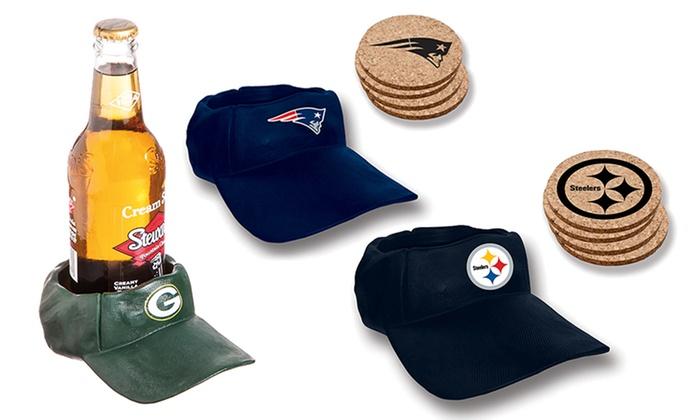 NFL Cap-Shaped Coaster Set (5-Piece)