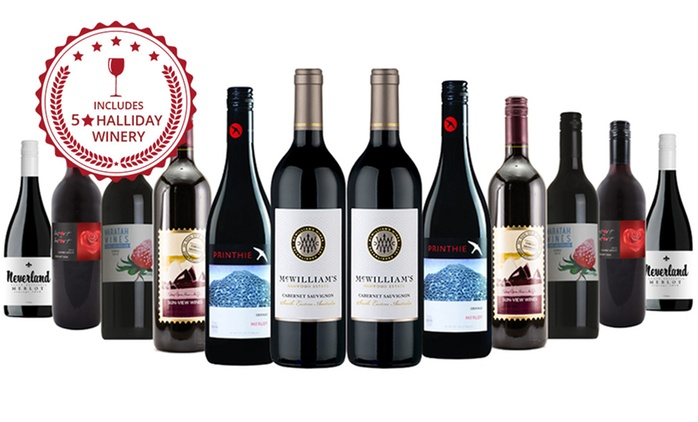 $59 for a 12-Bottle Mixed Red Wine Case Including Four Bottles from Five-Star Wineries (Don't Pay $159)