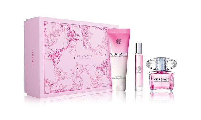 Versace Bright Crystal For Women Gift Set (3-Piece)   Groupon 796a6782c0