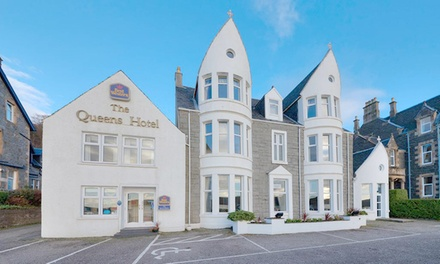Oban: Double Room for Two with Breakfast, Glass of Wine on Arrival and Optional Dinner at Muthu Queens Hotel