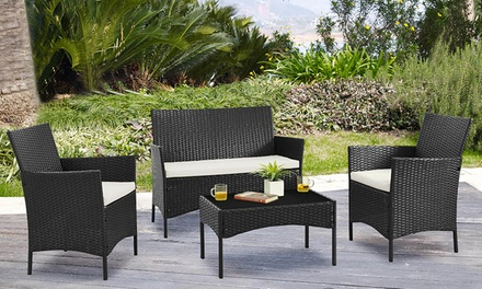 Four piece garden furniture set groupon for Gardening 4 less groupon