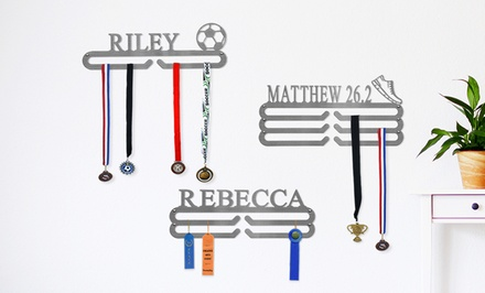 Personalized Medal, Tie, or Belt Holder with 1, 2, or 3 Tiers from Rusted Orange Craftworks Co. (Up to 63% Off)