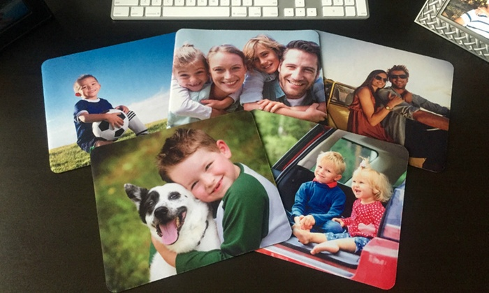 American Laser Crafts: 1, 2, 3, or 4 Personalized Mouse Pads from American Laser Crafts (Up to 79% Off)