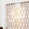 Lavish Home Elisa Sheer Embroidered Grommet Curtain Panel